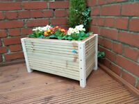 Handmade 50cm Decking Planter with legs and plastic trough Garden / Herb / Flower