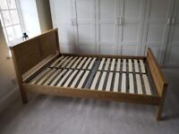 Wood double bed