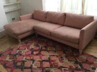 Lincolnshire - Sofa com Holly corner sofa in blush linen