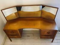 McIntosh teak vintage antique mid century dresser dressing table mirror chest of drawers