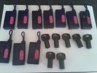 Electronic infra red fobs for gates or garage doors.