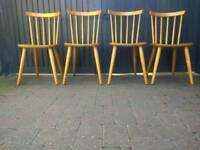 Vintage Retro Mid Century Danish Ercol Style Dining Chairs