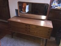Vintage 70s dressing table chabby chic project retro upcycle
