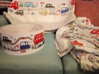 Next children's curtains, bedding and light shade