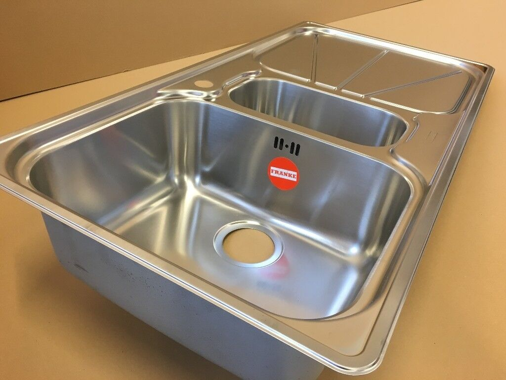 Kitchen sink franke stainless steel 1 5mm r d