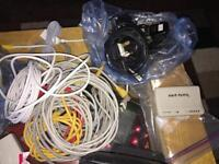 Joblot of various cables, network, router, etc. Car boot?