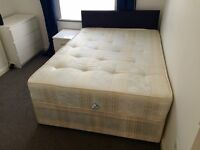 Double bed base and mattress for sale
