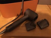Dyson hairdryer and leather case