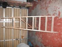 Wooden step ladders with 6 treads