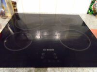 Bosch Electric Ceramic Hob, Hotpoint single Electric Oven