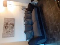 3 seater large grey sofa excellent condition only 1 year old