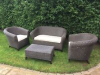 4 piece wicker conservatory furniture