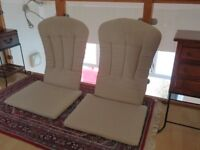 2 cushions for Adirondack style chairs