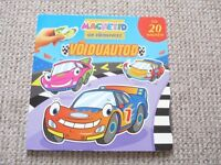 Childrens Magnetic cars book with over 20 magnets Estonian