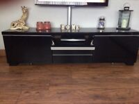 Ikea black gloss tv stand