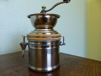 Coffee Mill with sealed Storage Jar, excellent condition