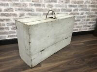 Old Aged Vintage Tool Box Chest Storage