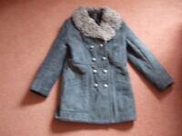 Ladies Genuine Sheepskin 3/4 Length Coat Size 12