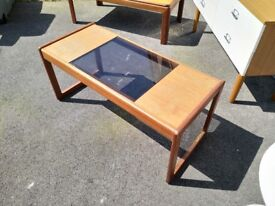 G-Plan coffee table with part glass top, from approx 1960's (mid century modern)