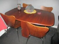 (Folding) Dining Table & 4 (IKEA) (Retro Style) Chairs.