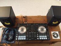 Pioneer DDJ-SR controller, KRK Rokit 5 x2 and Pioneer HDJ 1500k DJ Headphones