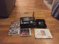 Nintendo 3DS COSMOS BLACK in great condition with 4 games and accessories