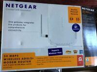 Netgear 54 MBPS wireless ADSL2+ modem router