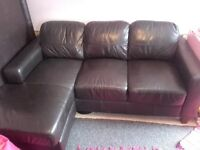 Dark brown leather sofa from Next. Good condition 1yr old 200. Perfect size for a flat.