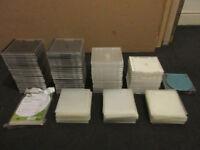 92 Jewel CD Cases & 300+ CD/DVD Plastic sleeves
