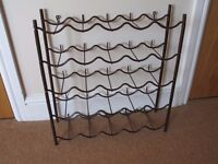 Vintage Retro 1970's Brown Wine Rack. Excellent condition. Can be taken apart.
