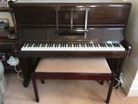 Upright Piano , exhibition model Duck Son and Pinker, with stool. Charity donation. Buyer collects.