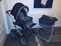 Two sets of Mama's and Papa's Ultima MPX Travel Set. Includes pram and pushchair.