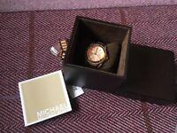 Michael Kors Rose Gold Mini Blair Chronograph watch, Brand New