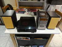 Philips Micro Hifi with Garrard Turntable and iriginal R-control Perfect Sounding