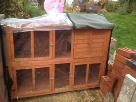 2x small animal cages with covers in good condition covers are weathered cost £150 each at new
