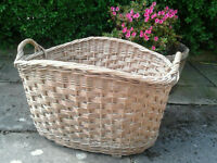 Huge wicker basket. Great storage for shop or home or as interior decorator's piece.