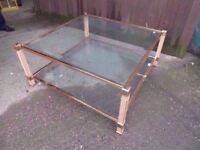 Coffee Table Large Glass Topped Delivery available £10