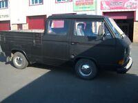 vw t25 doka double cab pick-up rhd mot'd petrol/lpg converted may part ex for vw camper van