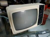 Old school retro vintage television tv working