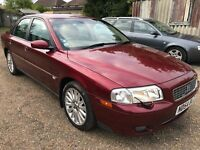 Volvo S80 SE (170 BHP) 2435cc Petrol Automatic 4 door saloon 54 Plate 30/09/2004 Red