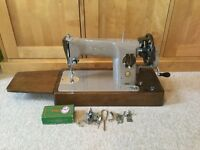 Retro Antique Vintage Singer 201K Semi Industrial Hand Crank Sewing Machine