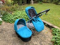 Mamas and Papas urbo pram with carry cot and car seat adaptors