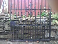 Antique wrought iron gates from 1935