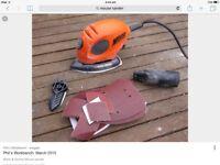 Black&Decker mouse sander & cordless screw driver