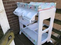 My child changing table with bathing station