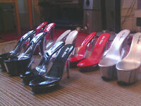 HIGH HEEL FASHION SHOES AND ORIENTAL LADIES DRESSING GOWNS FOR SALE