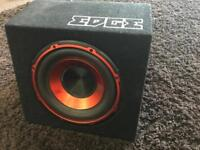 REDUCED 12 inch Edge subwoofer with built in amp