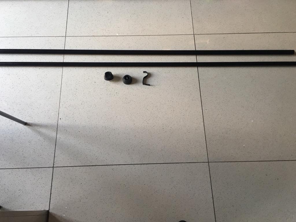 Black Extendable Curtain Pole