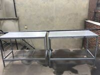 3 stainless steel tables for sale excellent quality for sale