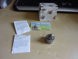 Royal Selangor Teddy Bear Tooth Box with box and paperwork, new never used,